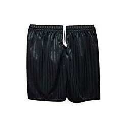 Black PE shorts up to waist...