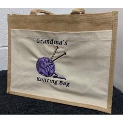 Knitting Needle Tote Bag