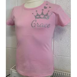 Glitter Crown Printed T-shirt